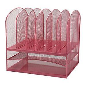 Adir mesh desk office organizer paper desktop organizer - Pink desk organizer ...