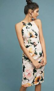 ddd3e8ce Image is loading NWT-Black-Halo-Montego-Floral-Sheath-Dress-Size-