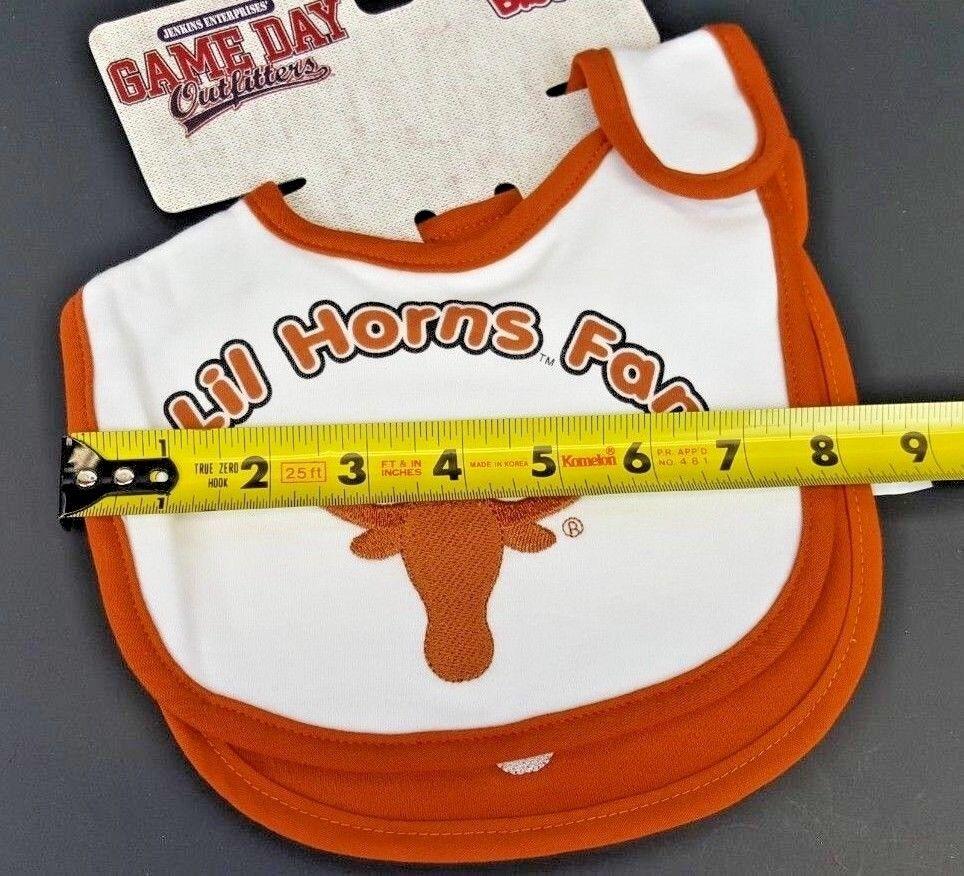 Texas Longhorns Lil Fan Infant Baby Bibs 2 Pack