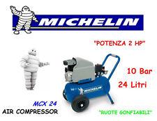 COMPRESSORE ARIA MICHELIN 24 LITRI PORTATILE COASSIALE MCX 24 LUBRIFICATO 2 HP