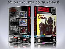SUPER TURRICAN 2. Box/Case. Super Nintendo. BOX + COVER. (NO GAME).