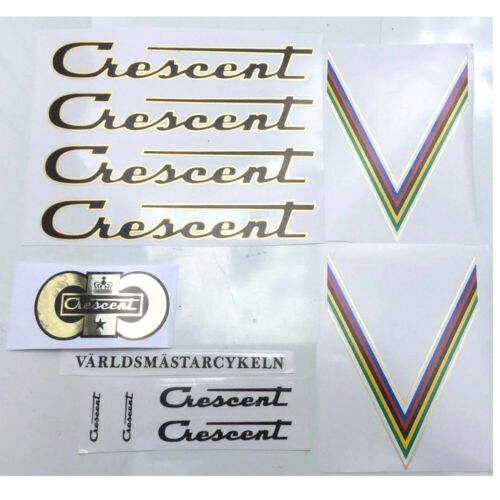 Crescent early to mid 80s decal set Swedish