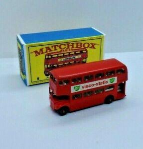Matchbox Series Nº 5 droutemaster London Bus (70mm) en caja personalizada de reemplazo