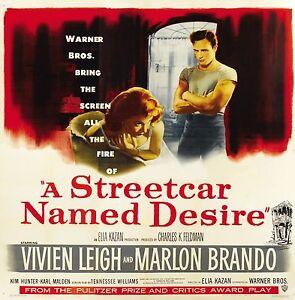 A streetcar named desire Marlon ndo movie poster print #3 | eBay
