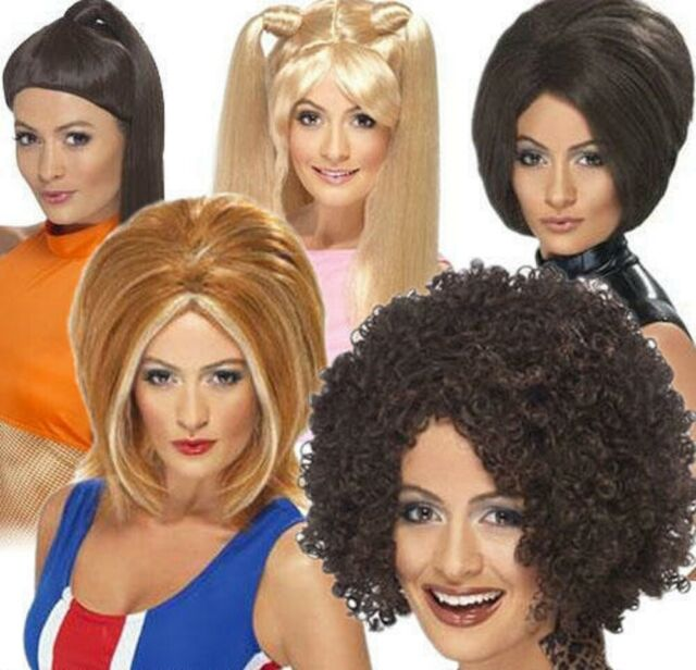 90s Baby Spice Wig Ladies Fancy Dress 1990s Spice Girls Icon Adults Costume