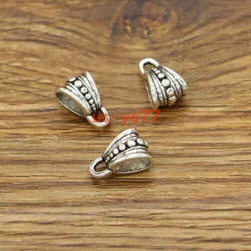 30 Bail Bead Slider Spacer Bead For European Style Bracelets 4MM Large Hole 3051