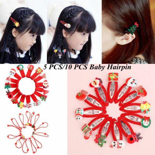 Fashion Cartoon Snowman  Girl/'s Barrettes Baby Hair Clips   Christmas Hairpin