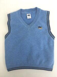 a7a9ab44246b Janie And Jack Baby Boy Sweater Vest V-Neck Blue Navy Cotton 6 to 12 ...