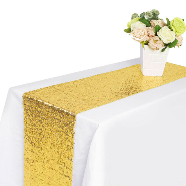 Christmas yuboo Teal Blue Table Runner 2 Pack Sequin 12x108 Table Cloth for Birthday Party Wedding,Bridal Baby Shower