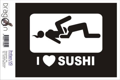 Aufkleber SEX XXX vom Porno Autoaufkleber 150x110mm I Love Sushi