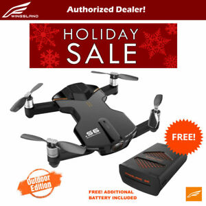 Wingsland-S6-V2-Smart-Pocket-FPV-Drone-with-Extra-Battery-4K-HD-Camera-Black