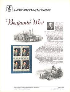 43-10c-Benjamin-West-1553-USPS-Commemorative-Stamp-Panel