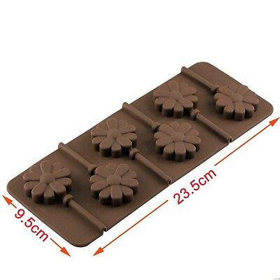 Silicone Lollipop Mould Cake Chocolate Fondant Baking Pop Tray Lolly Mold +Stick