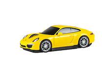 Porsche 911 Carrera S Car Wireless Laser Computer Mouse - Yellow