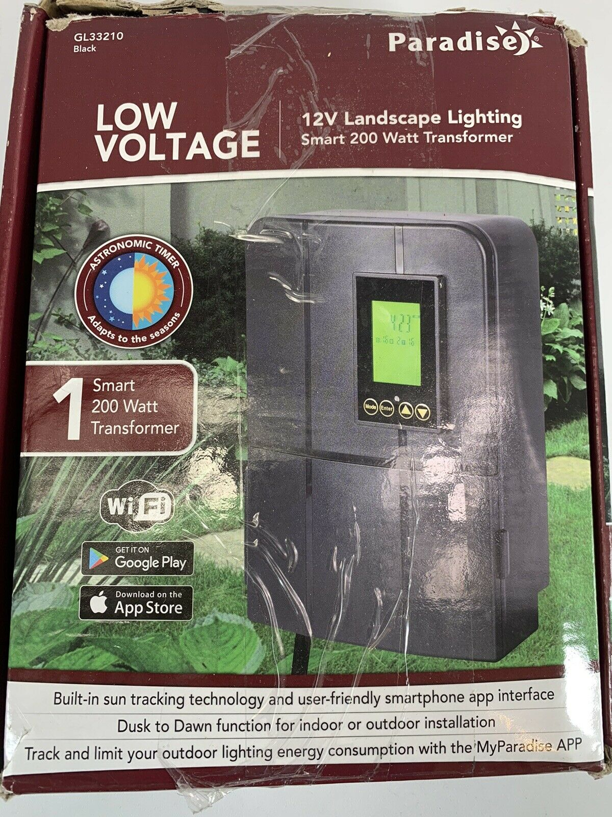 Paradise Gl33210 Low Voltage Smart A C Transformer 12v 120v 200w For Sale Online Ebay