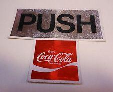 """Vintage Coca Cola Door Sticker """"Push"""""""
