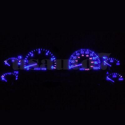 Dash Cluster Gauge AQUA ICE BLUE LED LIGHT BULBS KIT Fits 97-01 Jeep Cherokee XJ