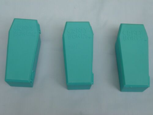 Crazy Bones COFFIN CONTAINERS  Item #00204  Set of 3  NWT  teal