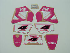 PINK YAMAHA PW 50 GRAPHICS DECALS STICKER KIT