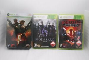 XBOX-360-BIOHAZARD-5-Deluxe-Edition-6-amp-Raccoon-City-3Games-Japan-Resident-Evil