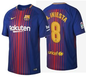 Image is loading NIKE-ANDRES-INIESTA-FC-BARCELONA-HOME-JERSEY-2017- 41fcbffc3