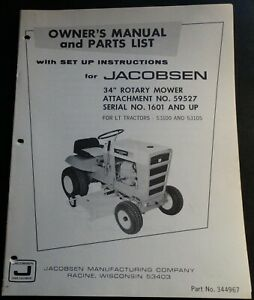 JACOBSEN-034-34-ROTARY-MOWER-ATTACHMENT-59527-OWNERS-SET-UP-MANUAL-P-N-344967-412