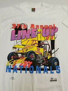 1978 Knoxville Sprint Championship Yellow Ladies T-Shirt Size XL