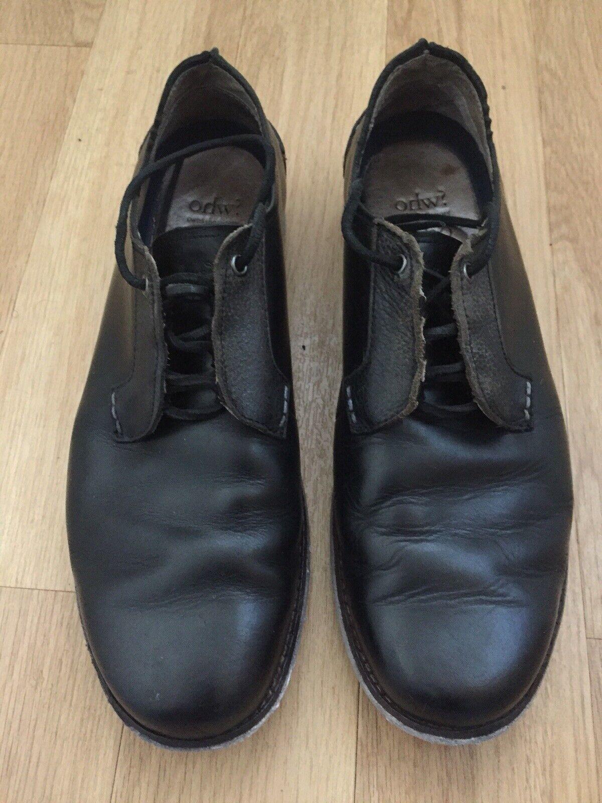 Ohw? Who? Leather Shoes Black Size UK 10