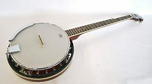 BANJO ELECTRO ACOUSTIC G BLUEGRASS 5 STRING CLOSED BACK BY CLEARWATER