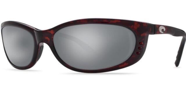31ce455893 New Costa del Mar Fathom Polarized Sunglasses Tortoise Silver Mirror 580G  Glass
