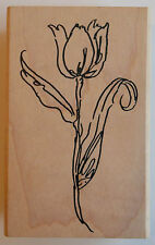 Tulip Rubber Stamp - Wood Mounted