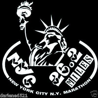 2018 any year New York City NYC Marathon LEAF Decal iPad,Luggage,Suit,CarWindow
