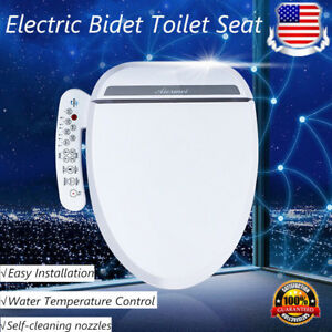 Pleasing Details About Luxury Electric Bidet Warm Toilet Seat For Elongated Toilets Double Nozzles Usa Ibusinesslaw Wood Chair Design Ideas Ibusinesslaworg