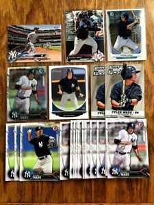 (x22 Lot) Gleyber Torres & Tyler Wade (REFRACTOR) RC (1st Bowman) NY Yankees