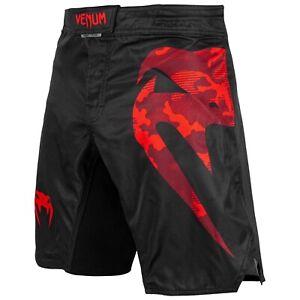 Venum-Light-Fightshorts-schwarz-rot-geeignet-fuer-MMA-Grappling-und-Kickboxen
