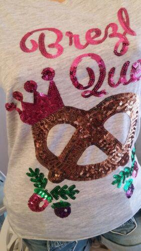 Miss Goodlife Shirt Brezl Queen Gr XS S M L grau melange T-Shirt Trachtenshirt