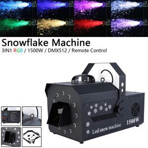 1500W Wireless Snowflake Machine Stage DJ Show Effect Snow Fogger Maker Remote