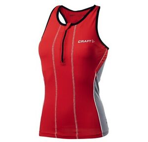 Image is loading Craft-Womens-Performance-Tri-Singlet-XS-WMN192404-Cycling- b71f1659e