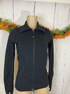 Lululemon Women's Athletic Black Light Jacket Size 4 (XS) Full Zipper Pockets