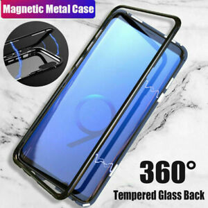 For-Samsung-Galaxy-S9-S8-S7-Plus-Magnetic-Adsorption-Tempered-Glass-Case-Cover