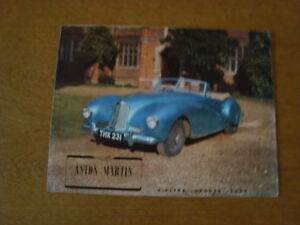 Aston Martin 2 litre sports cars brochure