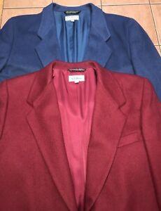 L vintage Usa di 14p Made da blu uomo da rosso l 2 Lotto Blazer Giacca donna Sz In nT4EdwBtqx