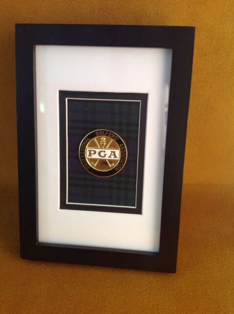 Framed - Professional Golfers Association of America -  Medallion - Black Watch