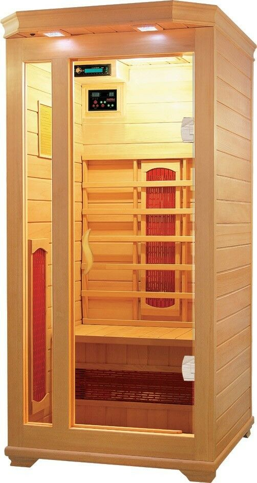 1 person premium infrared sauna ceramic heat saunas ebay. Black Bedroom Furniture Sets. Home Design Ideas