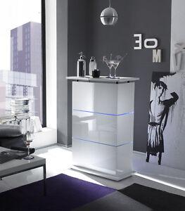 Mobile bar con Led contenitore laccato lucido bianco Design moderno ...