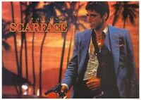 Scarface Movie Poster - Gangster Tony Montana Palms Full Size Al Pacino Print