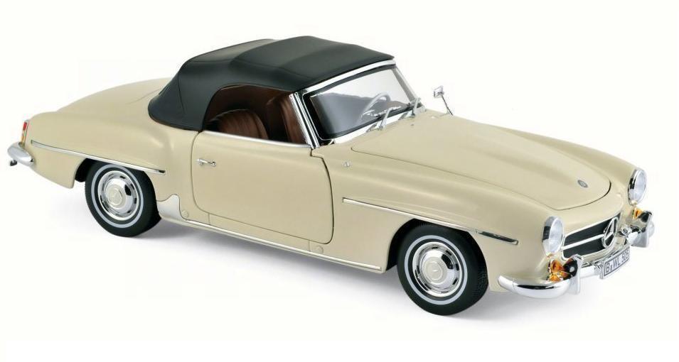 Norev 183539 1957 Mercedes Benz 190 SL Coche Modelo 1 18 Beige