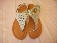 Women's Mixit Flat Sandals Mint Green With Jewels Size 8
