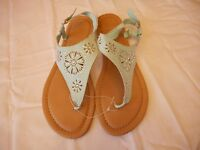 Women's Mixit Flat Sandals Mint Green With Jewels Size 10