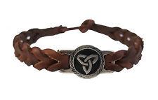 New Friendship Bracelet Trinity Knot Braided Faux Leather Band